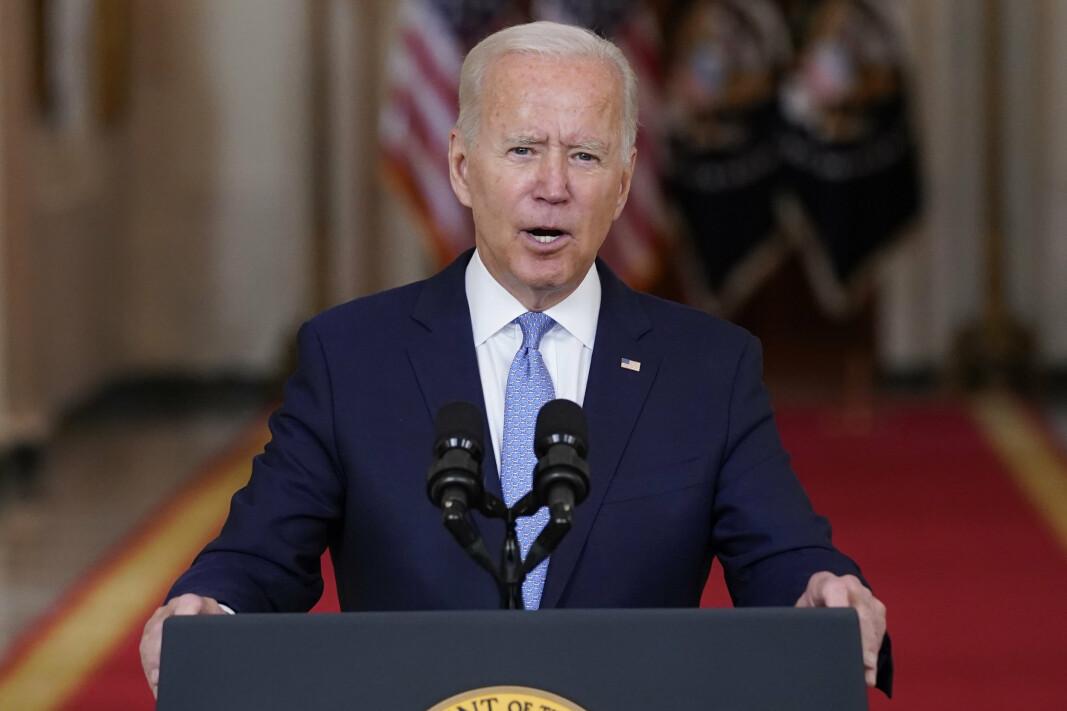 ENORME SUMMER: At Afghanistan-krigen kan ha kostet USA flere tusen milliarder dollar, ble påpekt av president Joe Biden da han talte om krigen tirsdag. – Hvilke muligheter har vi mistet som en konsekvens av dette, spurte presidenten. Han viste blant annet til beregningene av krigens kostnader som er gjort av eksperter ved Brown University.