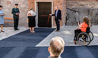 Omstridt heis åpnet på Akershus slott