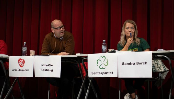 ÅPNER LOMMEBOKA: Nils-Ole Foshaug (Ap) og Sandra Borch (Sp) er begge enige om at de vil bruke mer penger på Forsvar og ha en særlig satsing på Hæren.