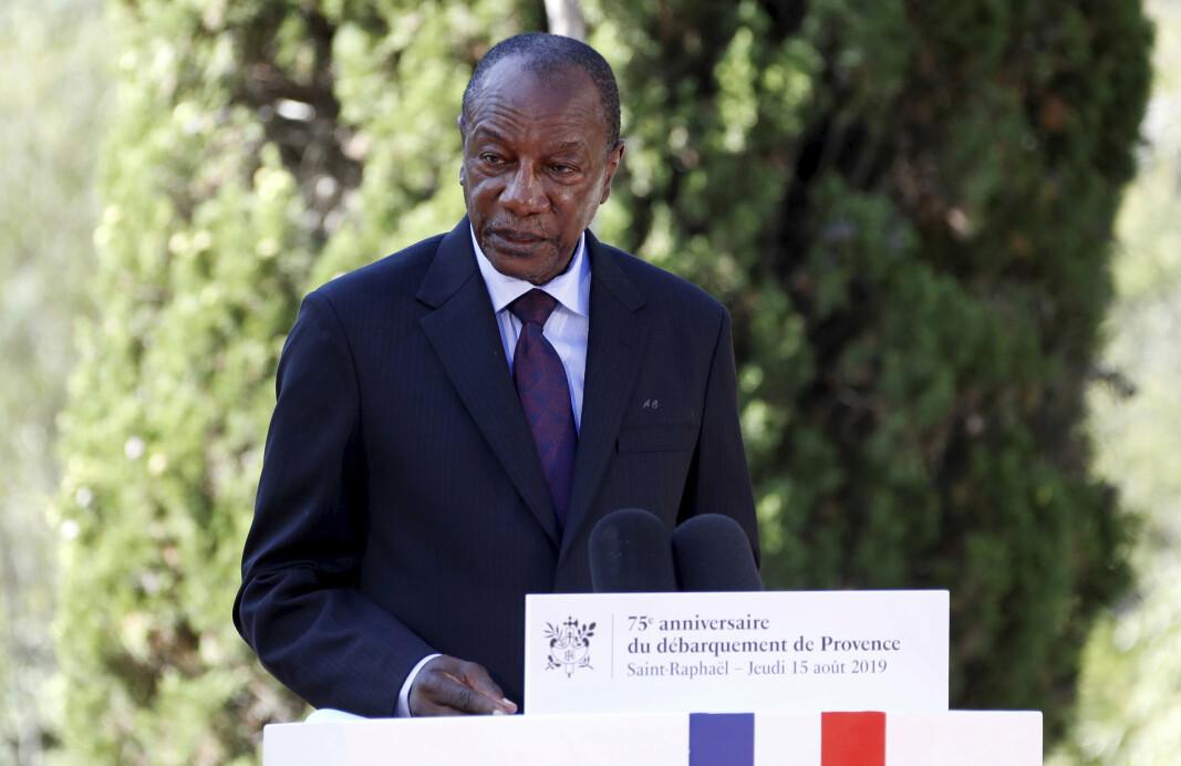 AVSATT: Guineas president Alpha Condé (bildet) ble pågrepet og avsatt i et kupp søndag.