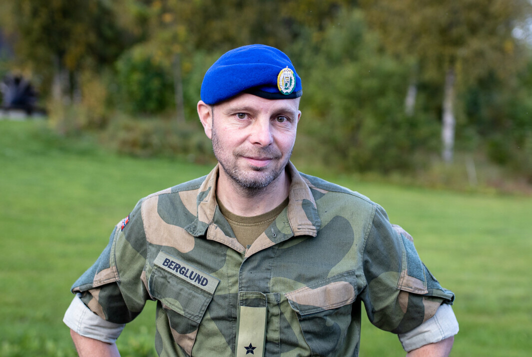 STOLT: Brigadesjef Pål Berglund er imponert over soldatene som på svært kort varsel reiste til Tbilisi i Georgia for å opprette et mottakssenter for evakuerte fra Afghanistan.