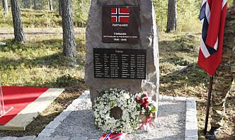 Partisanene har fått minnestein på Rena