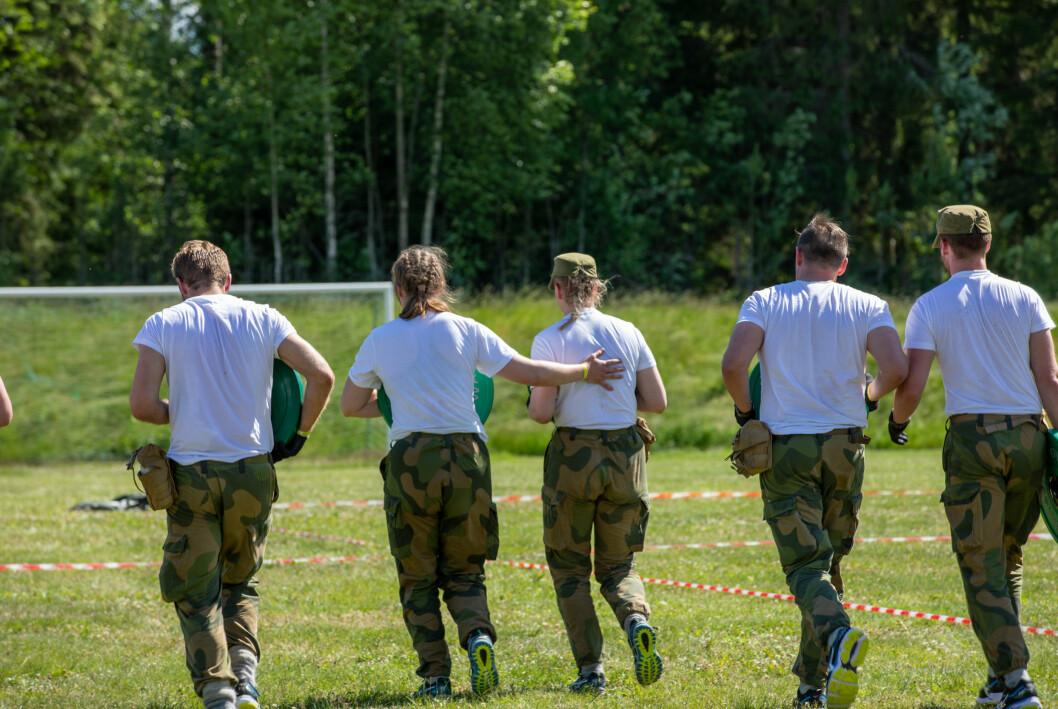 I FARTA: Forsvarets treningssko får lav score blant soldatene, for øvrig er de vernepliktige stort sett fornøyd.