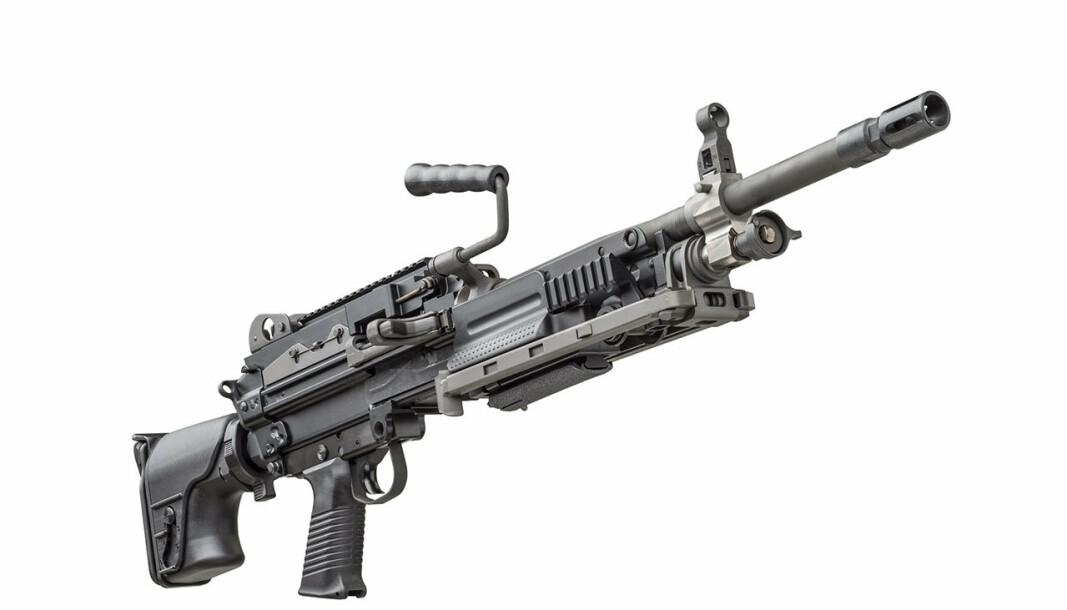 MG: Slik presenteres Minimi 7,62 Mk3 fra produsenten FN Herstal. Våpenet kommer i tillegg til lette Minimi-maskingevær i kaliber 5,56 som allerede brukes av Forsvaret.