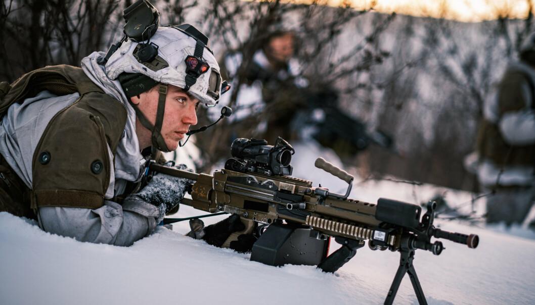 MINIMI: Allerede i 2010 kjøpte Forsvaret inn FN Minimi i kaliber 5,56. Nå tas også «storebroren» fra FN Herstal i bruk.