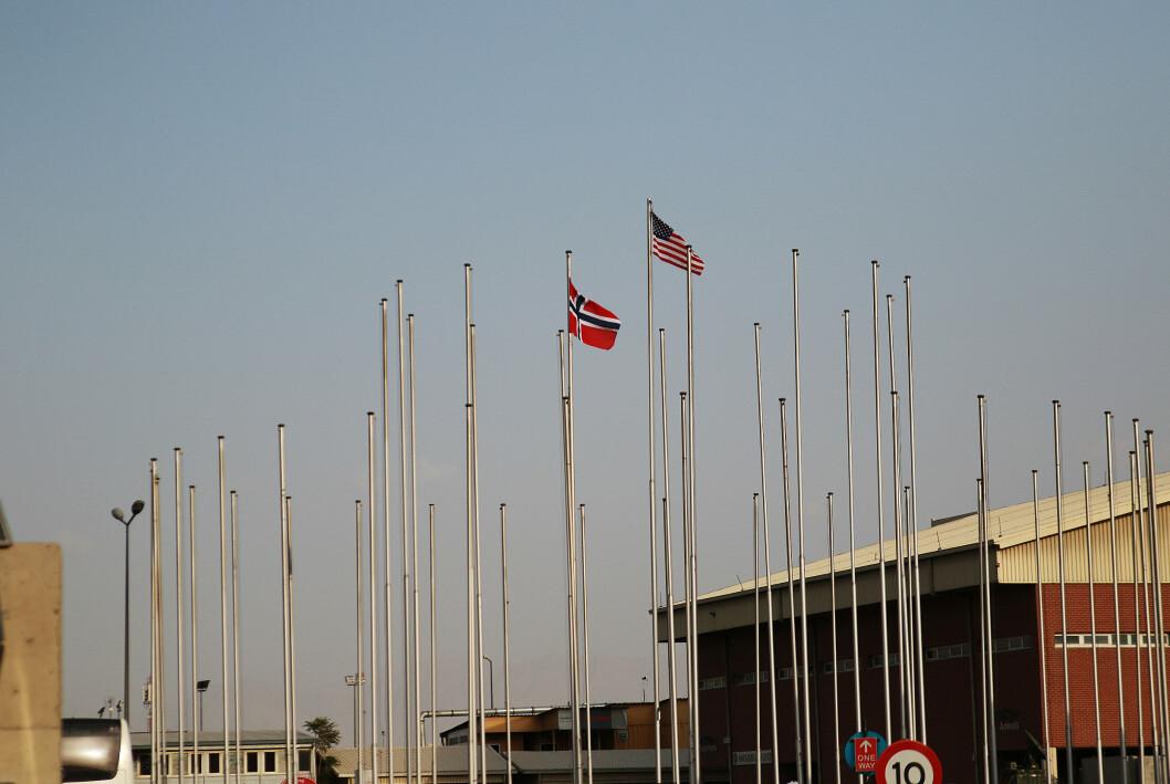 SISTE NASJONER: Norge var den nest siste nasjonen som forlot Nato-basen på Kabul lufthavn.