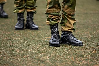 IKKE PÅ ØNSKELISTA: Forsvarets feltstøvler er noe man har, ikke noe man får.