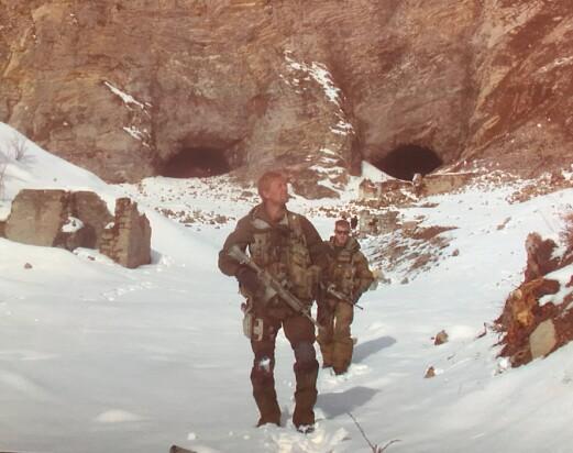 Eirik Kristoffersen i fjellene i Afghanistan.