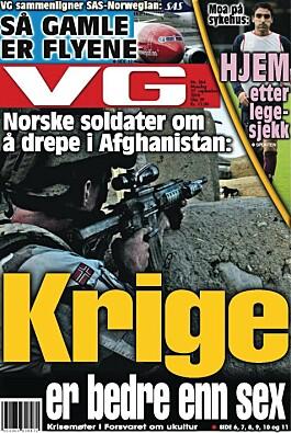 Forsiden av VG, 27.09.2010