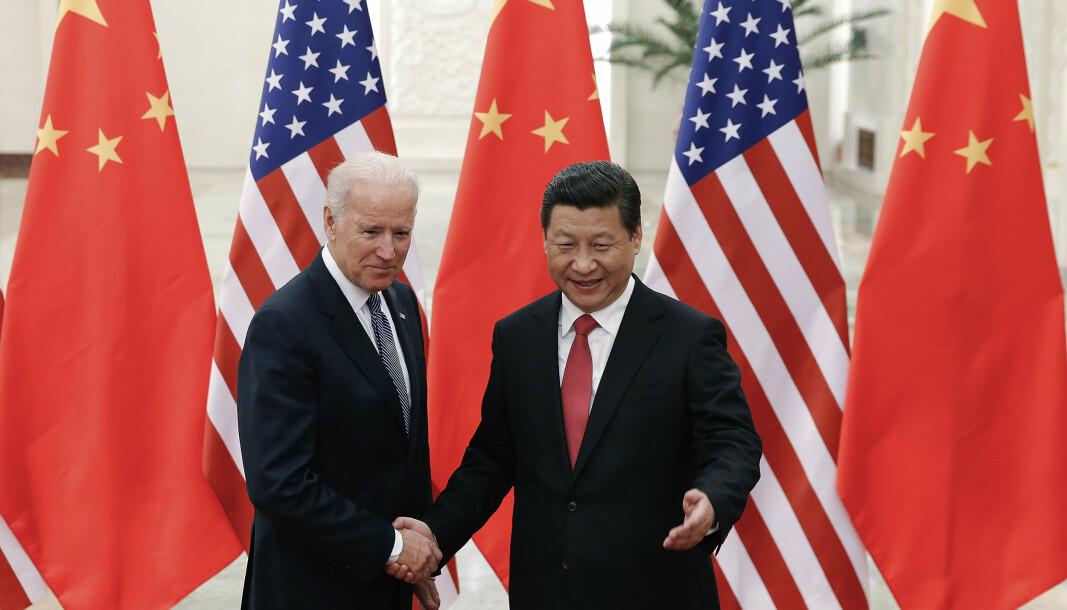 BEIJING: Joe Biden og Xi Jinping i 2013, da Biden var visepresident i USA.