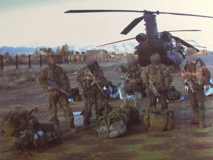 Et av de første bildene av norske spesialstyrker i Afghanistan. Til venstre, Eirik Kristoffersen.