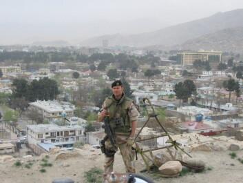 Roy Thomas utenfor Kabul.