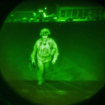 Generalmajor Chris Donahue er den siste allierte soldaten som forlater flyplassen i Kabul.
