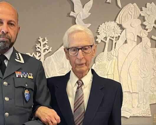 Milorg-medlem (94) dekorert med tre medaljer