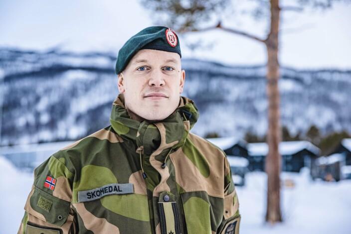 TALSPERSON: Major Eirik Skomedal, talsperson for Hæren.