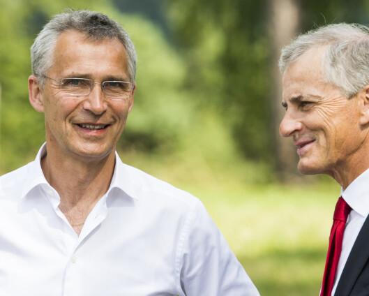 Stoltenberg gratulerer Støre: Ser fram til samarbeid