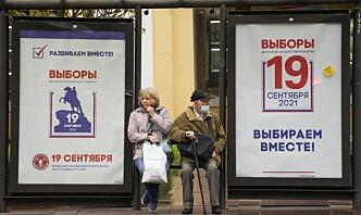 Russerne til valg etter knallhardt press mot opposisjonen