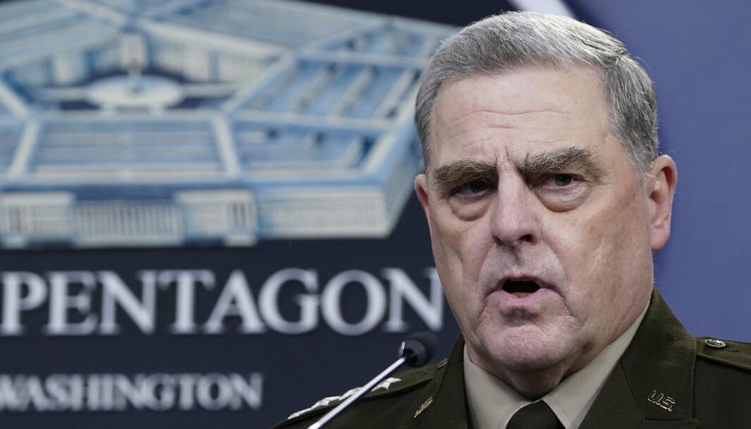REDD: USAs forsvarssjef Mark Milley var alvorlig redd for at daværende president Donald Trump kunne starte krig på impuls, ifølge den nye boka til journalistene Bob Woodward og Robert Costa