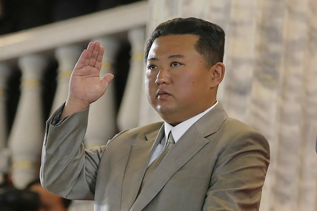 KIM: Nord-Koreas leder Kim Jong-un trapper opp våpentestingen. Her er han fotografert i forbindelse med et arrangement i Pyongyang i forrige uke.