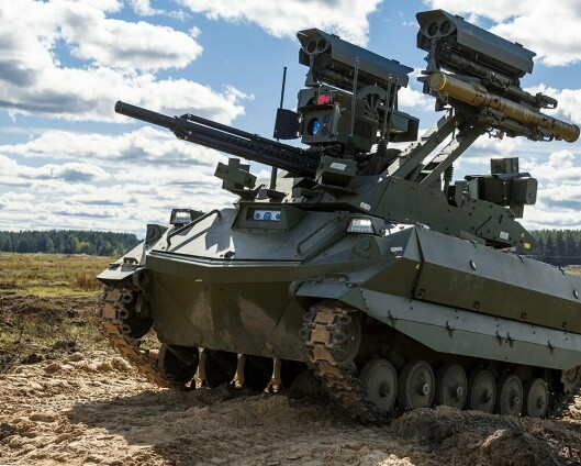 Russland testet kamprobot under øvelsen Zapad-2021
