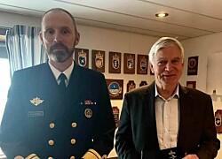 Tildelt Sjøforsvarets fortjenstmedalje