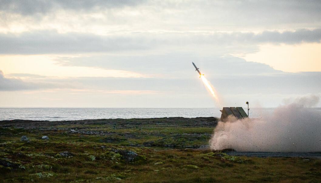 MISSIL: Hærens skal neste uke teste ut NASAMS 3 (Norwegian Advanced Surface to Air Missile System). Her blir det avfyrtmissil under øvelse Sølvpil på Andøya.