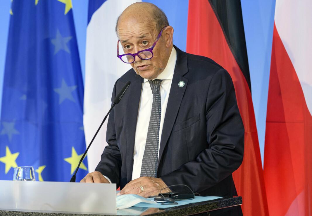 UBÅTSAKEN: Frankrikes utenriksminister Jean-Yves Le Drian kaller hjem landets ambassadører til Australia og USA i kjølvannet av ubåtsaken