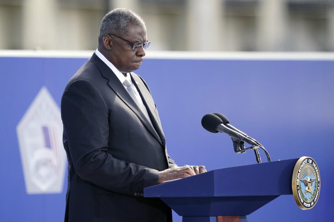 BEKLAGER: USAs forsvarsminister Lloyd Austin beklager dypt etter angrepet som rammet sivile i Kabul.