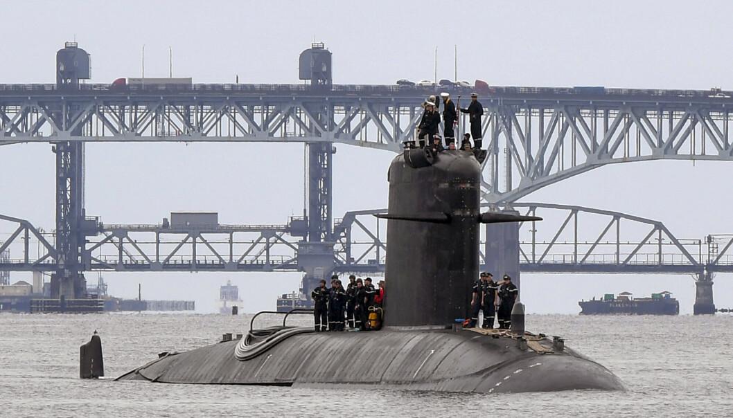 UBÅTSKANDALEN: Den franske ubåten FNS Amethyste i Themsen i begynnelsen av september. Australia har droppet en avtale med Frankrike om å kjøpe konvensjonelle ubåter, og innleder heller et samarbeid med USA og Storbritannia om å bygge atomdrevne ubåter selv.
