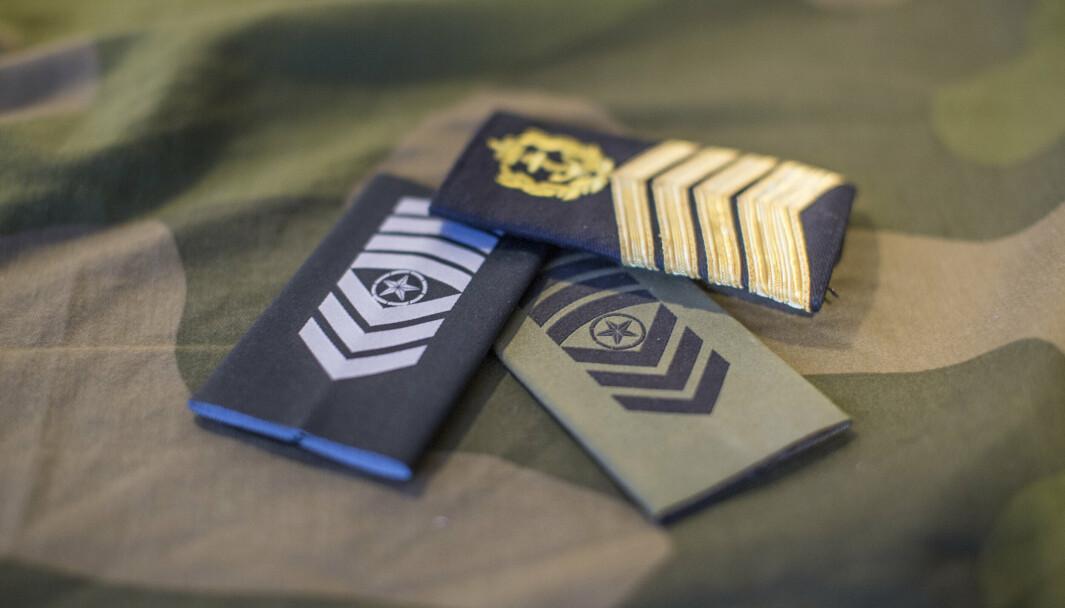 ENDRE GRAD: Flere ansatte i Forsvaret ble i sommer konvertert fra offiserer til spesialister.