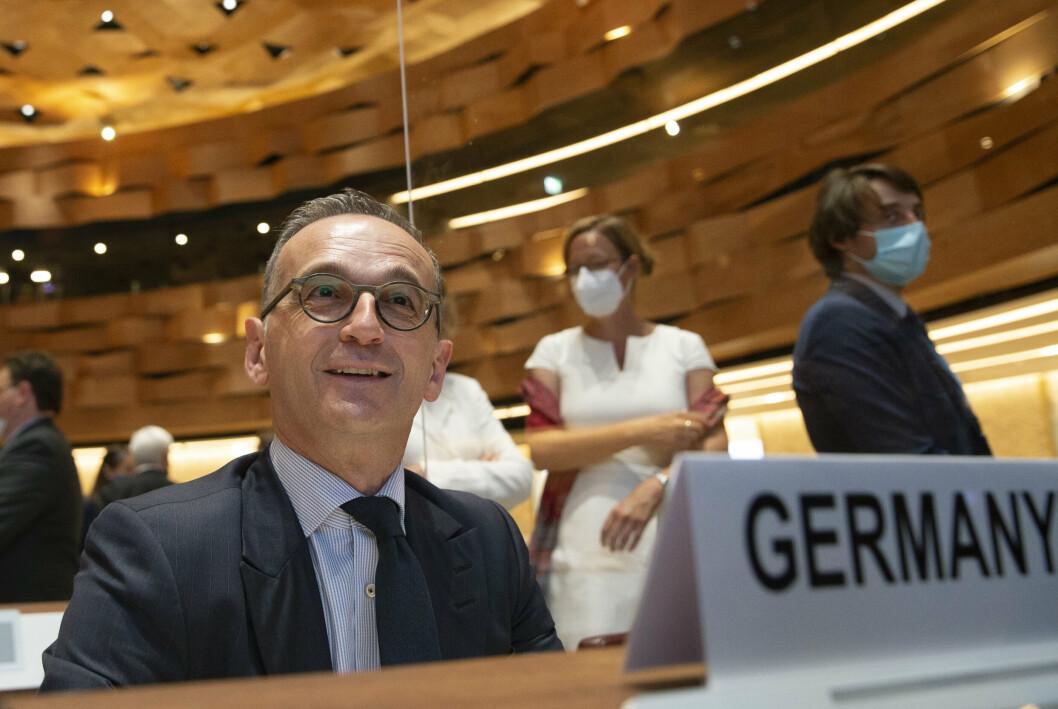 KLAR FOR MØTE: Tysklands utenriksminister Heiko Maas sier fransk misnøye er forklaringen på at onsdagens utenriksministermøte ikke blir gjennomført.