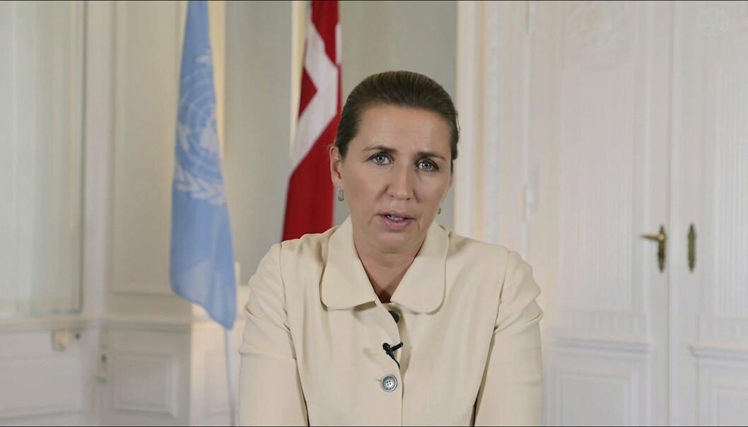 KRITISK: Danmarks statsminister Mette Frederiksen kommer med direkte kritikk mot Frankrike i ubåtstriden.