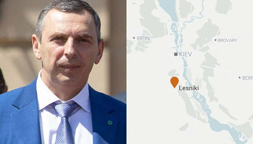 FORSØKT DREPT: Rådgiveren til Ukrainas president Sergej Sjefir ble onsdag forsøkt drept da bilen han satt i ble beskutt i landsbyen Lesniki.