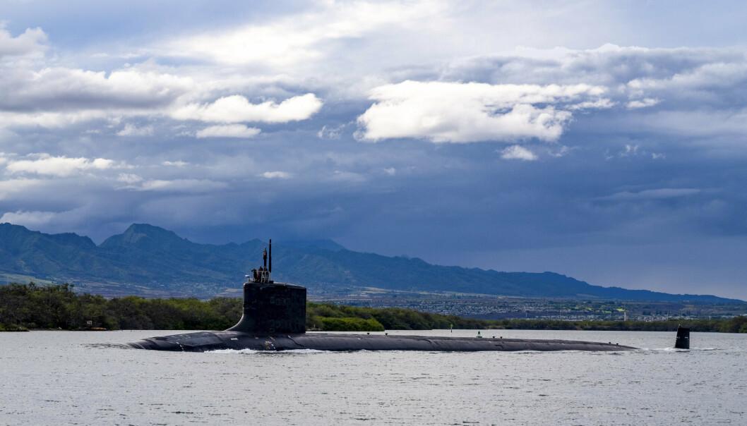 AMERIKANSK: Australia vil ha atomdrevne ubåter fra USA i stedet for dieselubåter fra Frankrike. På bildet ses en angrepsubåt i Virginia-klassen tilhørende den amerikanske marinen.