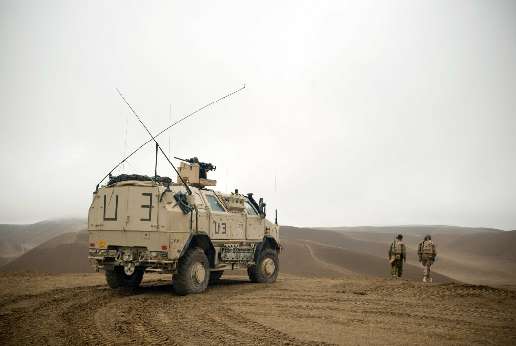 Soldater i Afghanistan i 2013. Forsvaret slipper torsdag første episode om det 20 år lange norske styrkebidraget til landet.