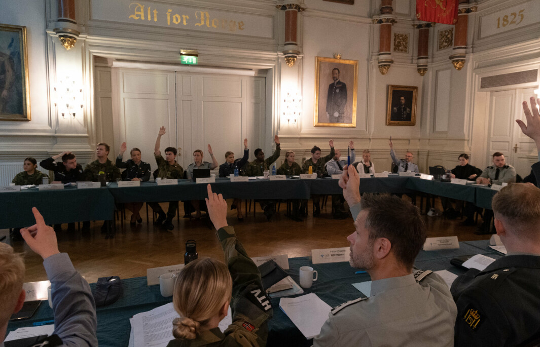 LANDSSTYREMØTE: Landstillitsvalgte fra hele Forsvaret var samlet på landsstyremøtet den 22. og 23. september.