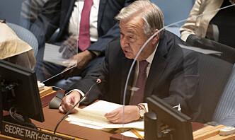 Guterres: Klimaendringene kan forverre konflikter