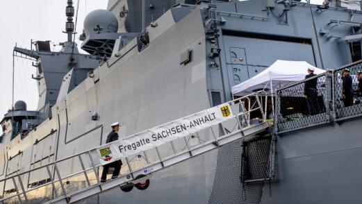 Tysk fregatt designet for asymmetrisk krigføring til kai i Oslo