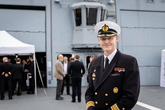 Skipssjef: Sascha Scwarzer er én av to skipssjefer på «Sachsen-Anhalt». Årsaken er at han leder mannskapet «Foxtrot», som fortsatt er under opplæring.