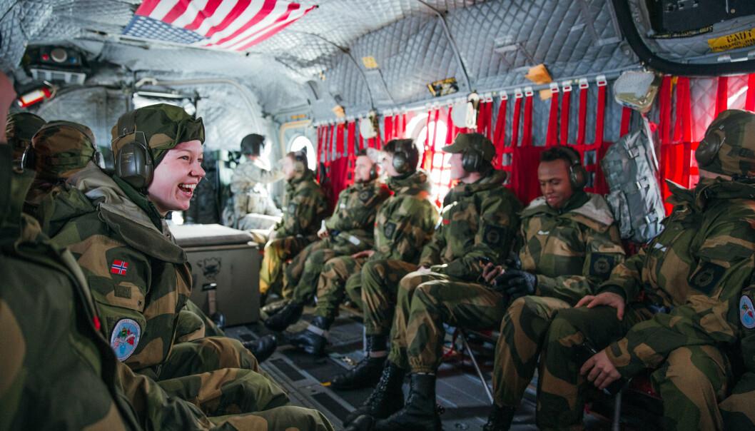 NOREX: Heimevernet og US National Guard planlegger for ny Norex-utveksling i 2022. Her er HV-soldater i et CH-47 Chinook transporthelikopter ved Camp Ripley under utvekslingen i 2019.