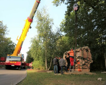 Tyskerne tok med 27 tonn tung stein fra Afghanistan som minne