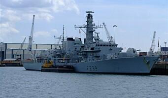Britisk krigsskip seiler gjennom Taiwanstredet