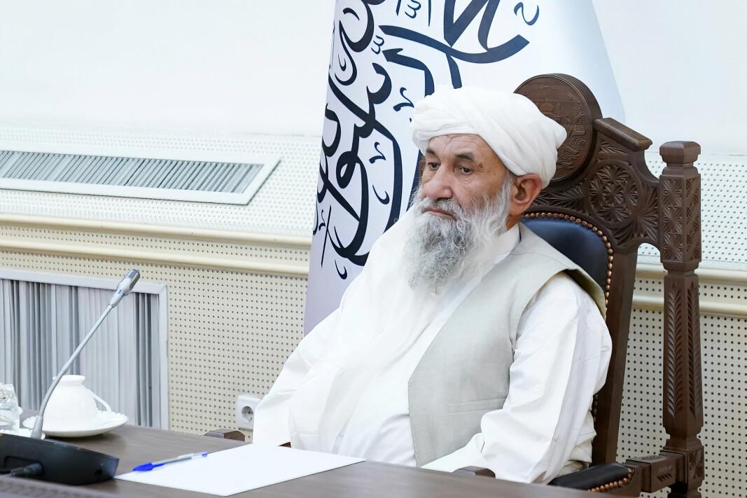 TREKKER SEG: Afghanistans statsminister mulla Mohammad Hassan Akhund.