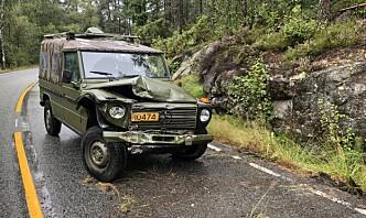 Havarikommisjonen undersøker ulykke med militært kjøretøy