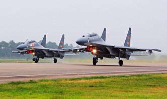 USA hardt ut mot Kina for «provoserende» militær aktivitet nær Taiwan