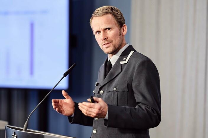 PROSJEKTLEDER: Hans Jakob Bøe fra Forsvarets sanitet under presentasjonen av Afghanistan-undersøkelsen 2020.