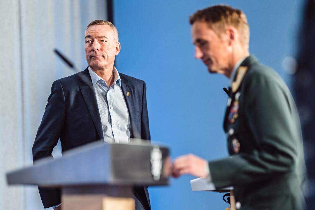 AFGHANSITAN: Forsvarsminister Frank Bakke-Jensen under fremleggingen av Afghanistan-undersøkelsen.