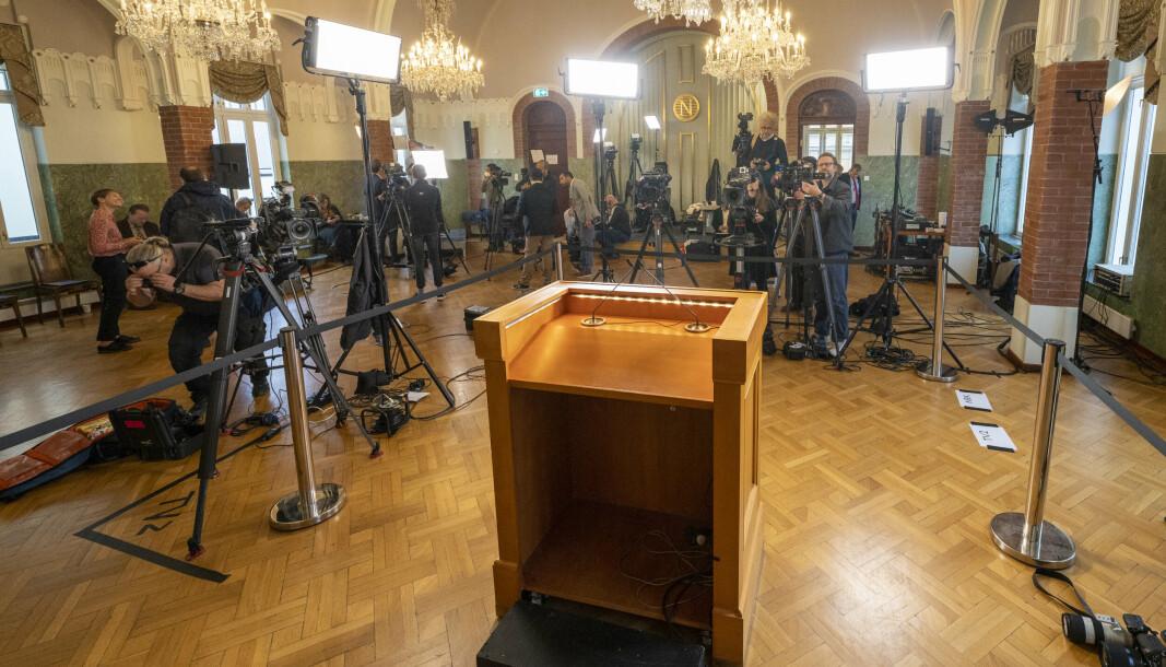 UTDELING: Fredsprisen deles ut på Nobelinstituttet i Oslo.