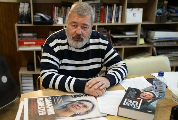 VINNER: Journalist og redaktør Dmitrij Muratov.