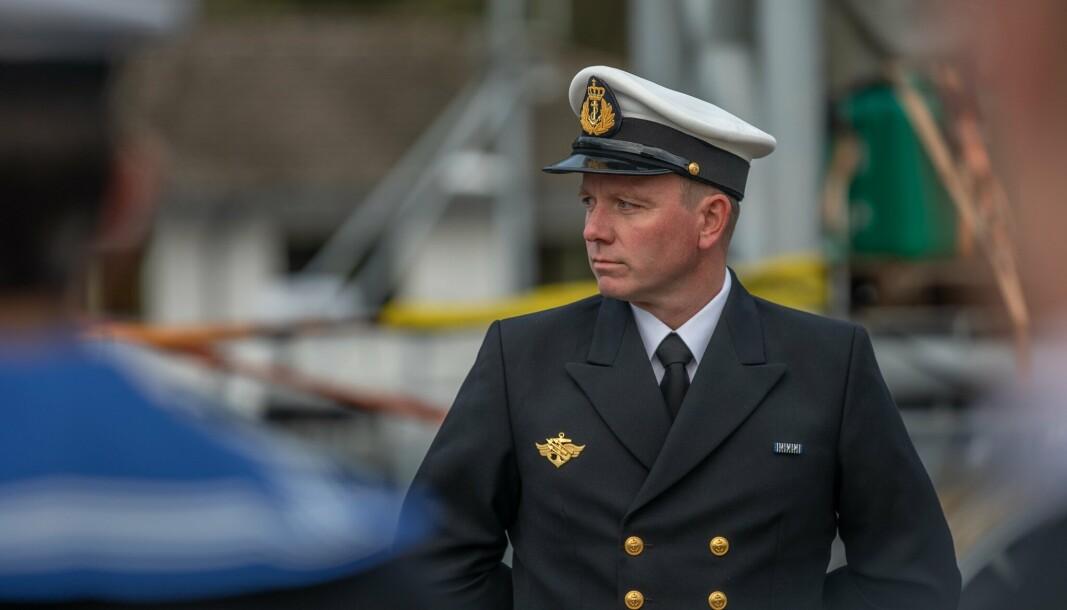 NY SJEF: Kapteinløytnant Terje Refvik overtok kommandoen på KNM Magnus Lagabøte fredag 1 oktober 2021.